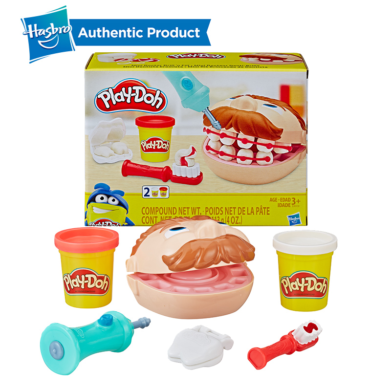 Hasbro Play-Doh Mini Doctor Drill'n Fill Dentist Toy Children's Creative Toys With 2 Non-Toxic Colors