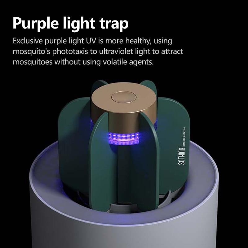 New 360 ° Open Air Duct Design Cactus USB Inhalable Mosquito Killer UV Mosquito Repellent LED Mosquito Killer Hot Sale