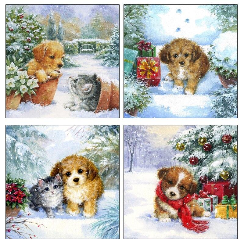 Купить pdmdog алмазная вышивка мозаика для собак полностью квадратная