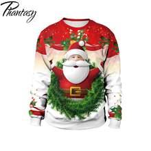 Phantasy 5 Свитер с принтом Санта Клауса; Рождественская Толстовка
