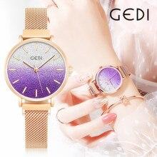2020 Super cienki pełny kryształ górski zegarki kobiety Top marka luksusowy zegar nowe panie diamentowy zegarek pani Relogio Feminino
