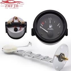 2'' '52mm Universal Car 240-33ohm Fuel Level Gauge Meter With Float Fuel Sensor E-1/2-F Pointer Automotive Gauge 12V Car