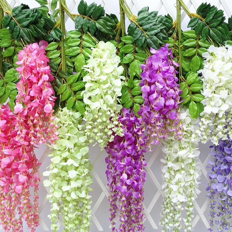 12 предметов в лоте, искусственный цветок светло-фиолетового цвета в виде вьющегося стебля с цветами Шелковый венок арки Свадебные цветы для...