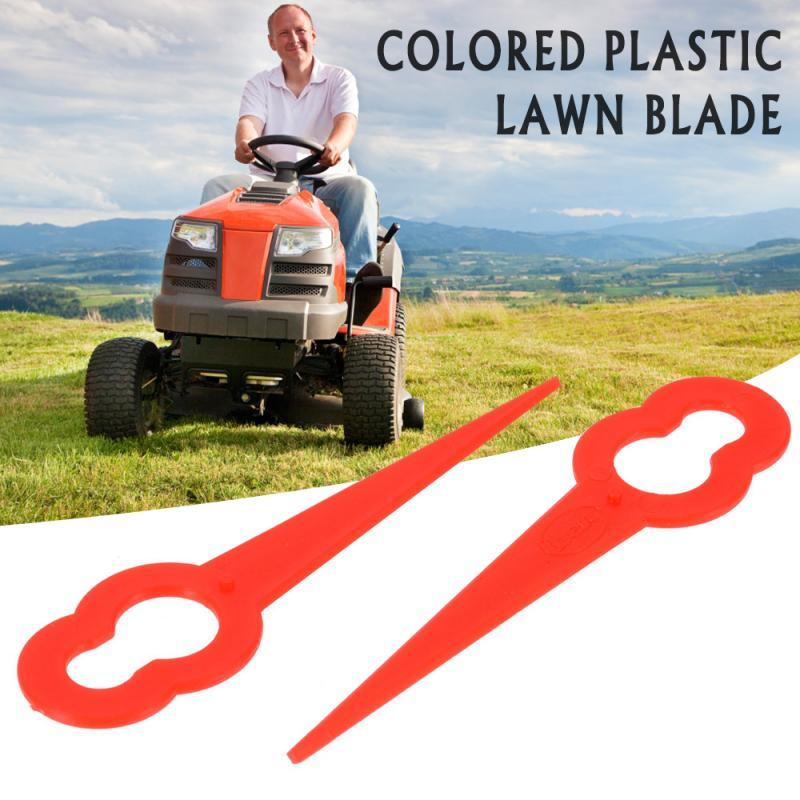 Color Plastic Mower Cutting Blades Grass Trimmer Blades 12*7mm Fits Lawnmower Mower Head Strimmer Gourd Shape Hot Sale