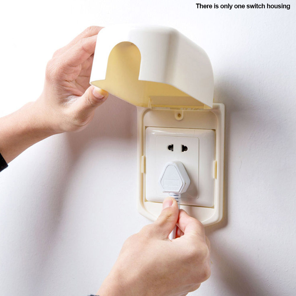 Electrical Equipment Switch Cover Protection Safety Universal Single Plug Anti-electric Shock Portable Solid Kid Baby Children