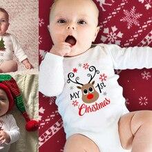 My First Christmas Baby Romper Long Sleeve Autumn Sprint War