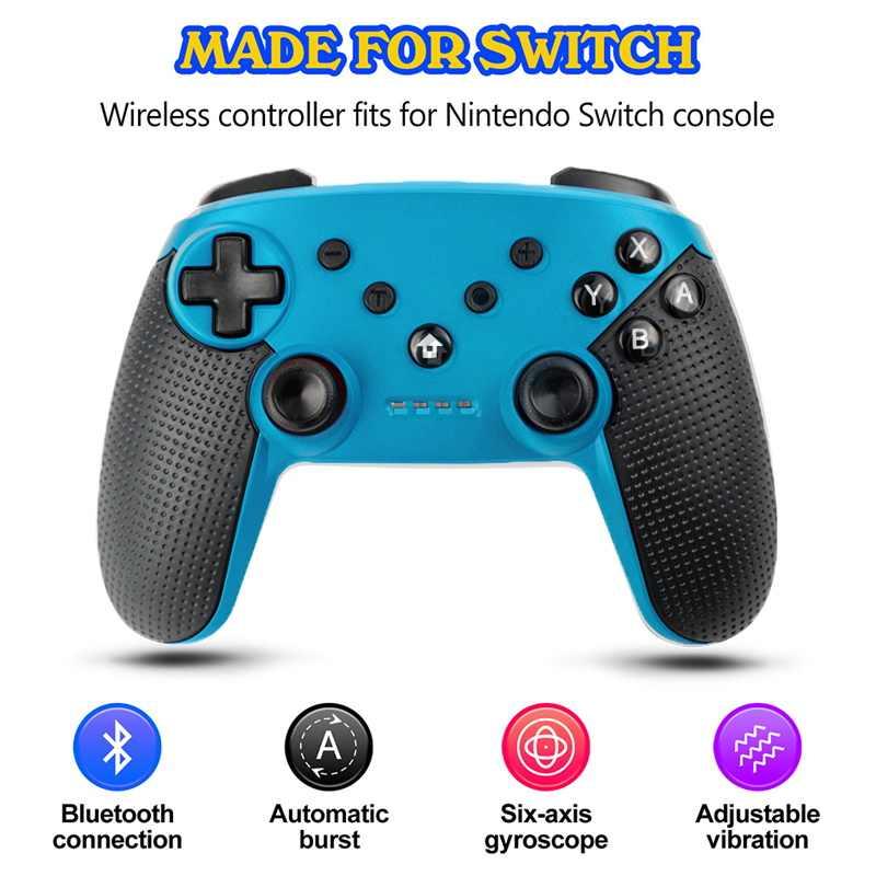 Untuk Nintend Switch Konsol Switch Joystick Pro Nirkabel Bluetooth Controller untuk Nintend Switch Pro NS-Switch Pro NFC Gamepad