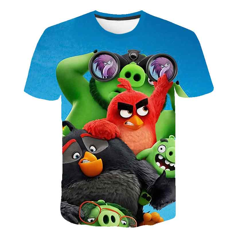2020 Summer New Arrival Movie 3D Printed The Birds 2 kids T-Shirt Angry Boy girl t-shirt child clothes 4T-14T Fashion casual