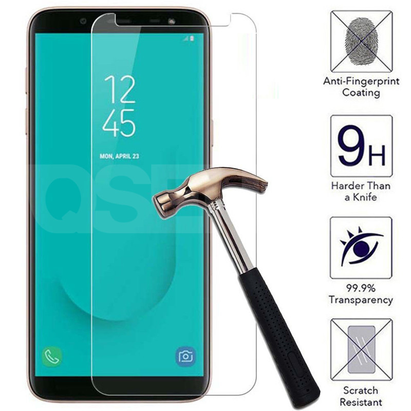 Tempered Glass on the For Samsung Galaxy J3 J5 J7 2015 2016 2017 Screen Protector Samsung J2 J8 J4 J6 Plus 2018 Protective Film image