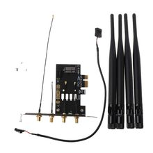 1 компл. Двухдиапазонный BCM94331CD/BCM94360 WiFi Bluetooth адаптер Беспроводная карта для ПК