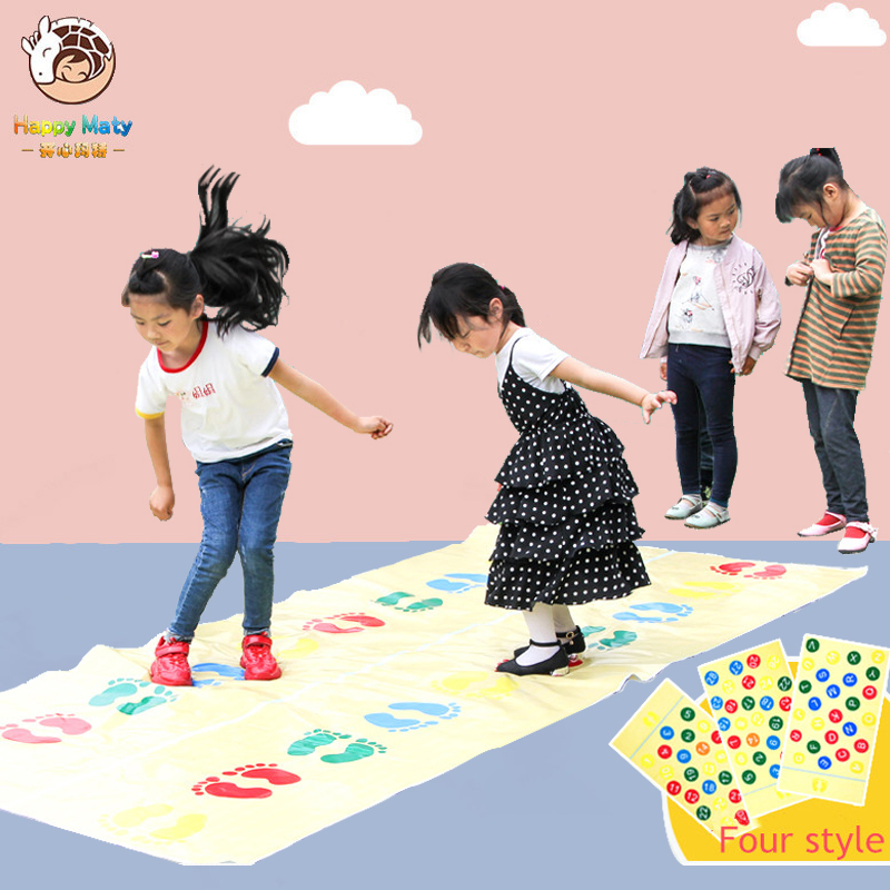 Kids Outdoor School Jumping Carpet Games Activity Kindergarten Equipment Early Educational Mat Walk Toys Sports For Children