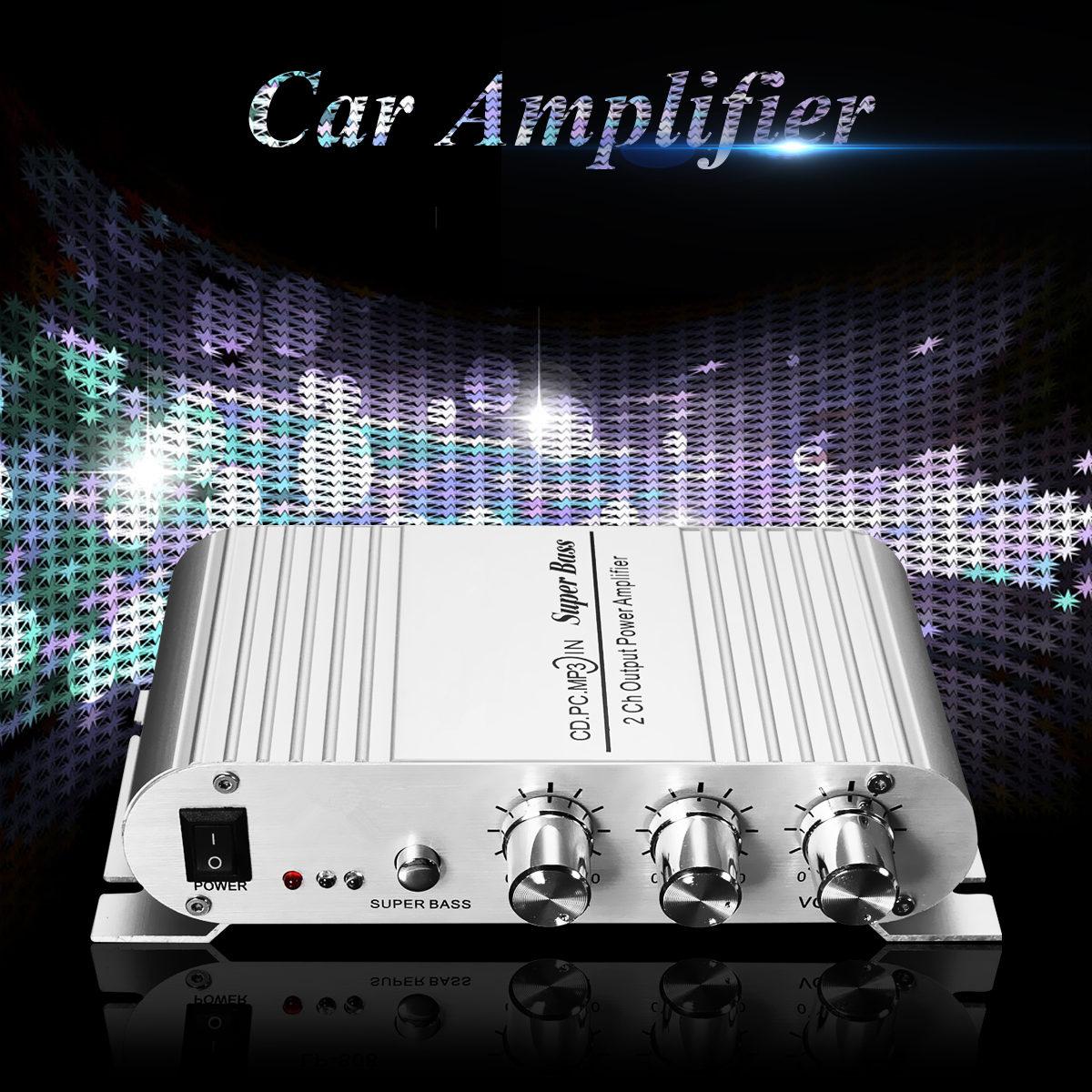 Car Amplifier 12V Mini Hi-Fi 2.1 Car Amplifier MP3 MP4 Stereo Player Audio Auto Sound Amplifier Subwoofer For mp3 PC DVD CD
