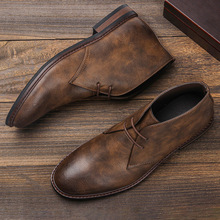 Size 7~12 Men Leather Boots Desert Ankle boots Fashion Comfortable Brand Men's Shoes for Walk #KD581