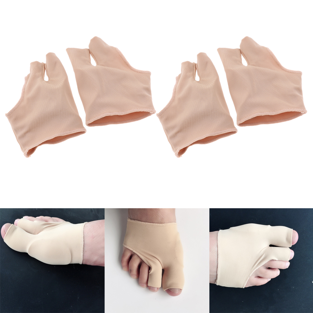 Pack of 2Pairs, Silicone Toe Separators Stretcher Spacers for Yoga Walking Dancing Men / Women