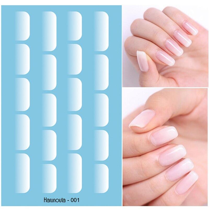 Белые водные переводные наклейки для дизайна ногтей, переводные наклейки для желе, геля для ногтей, белка, градиентный эффект, наклейки для ...