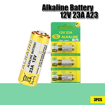 3 unids/lote Batería alcalina 12V 23A 23GA 21/23 A23 A23S E23A EL12 MN21 MS21 V23GA MN21 L1028 RV08 GP23A K23A para timbre remoto