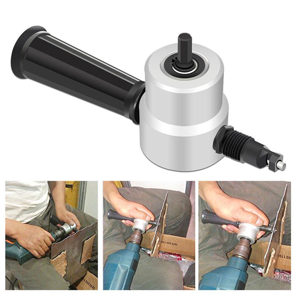 Kuulee Black Double Head Sheet Nibbler Kuulee Cutter Drill Sheet Kuulee Cutter Attachment Electric Saw Drill