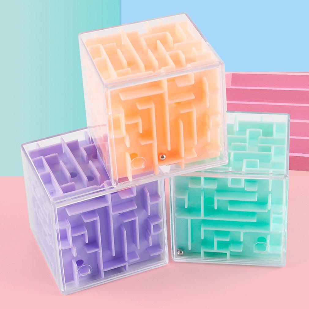 3D labyrinthe boule Rotation Cube professionnel vitesse Puzzle Cube avec autocollants enfants cerveau Teaser Cubo Magico jouets