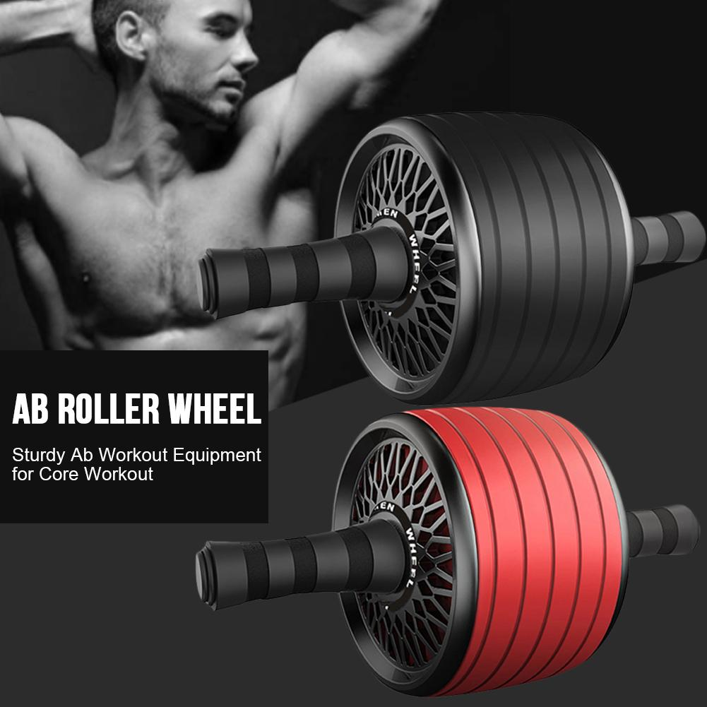 Ab Roller Wheel Sturdy Ab Workout for Core Workout Muscle Toner Ab Exercise Equipment Used as at Home Workout for Men & Women image