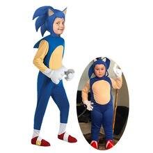 4-13y crianças anime luxo soni the hedgeho traje menina personagem jogo cosplay traje de halloween para crianças