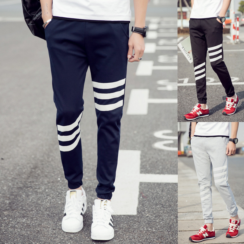 2019 Spring And Summer New Style Thin Beam Leg Skinny Athletic Pants Casual Trousers Running Man Sports MEN'S Sweatpants Fashion