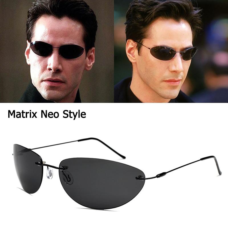 JackJad 2020 Fashion Cool The Matrix Neo Style Polarized Sunglasses Ultralight Rimless Men Driving Brand Design Sun Glasses Oculos De Sol