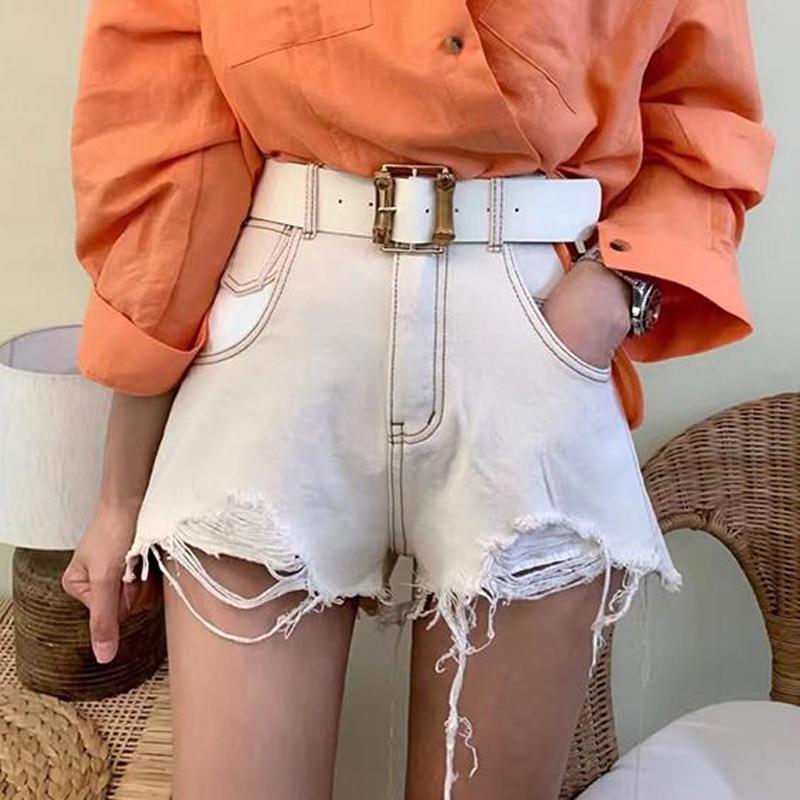 Drop Shipping High Street A-line Fringe Hem Women Denim Shorts Casual Tassel Pockets Female Jeans Shorts 2019 Summer Hot Shorts