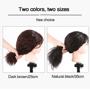Image 3 - Allaosify למעלה חתיכה סגירת פאה מתולתל סינטטי שיער בעבודת יד טבעי שחור שיער טופר פאה קליפ בתוספות שיער