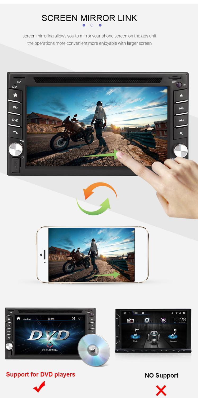 2020 neue Eunavi 2 Din Universal Auto Dvd Radio RDS FM AM Bluetooth Usb Aux Eingang Mp5 Player Multimedia Unterhaltung spiegel link