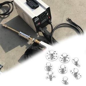 Image 5 - Extracteur de débosselage de carrosserie de voiture, outil de débosselage, dissolvant de joint en alliage de Zinc ventouse, outils de réparation de la tôle Automobile 8 pièces