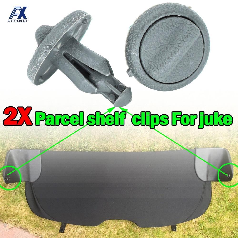 Clip-Bracket Trunk Parcel-Shelf Retaining-Clips Nissan Juke Grey Plastic Rear for F15