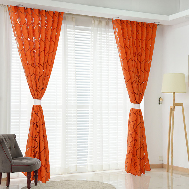 Luxury fashion style semi-blackout curtains Home curtains window living room living room curtain panel jacquard fabrics door CD 3
