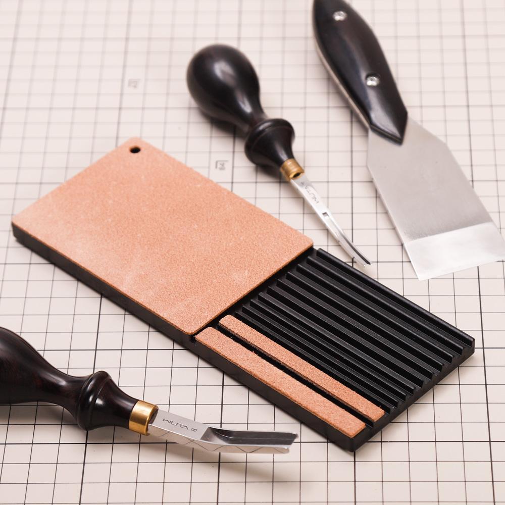 WUTA Multifunctional Leather Edge Beveler Sharpener Sharpening Strop Tool Polish Grind Knife Wide Shovel Cutting Edge Skiving-5