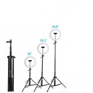 Image 5 - Кольцевой светильник для селфи, 26 см, 130 см, со штативом