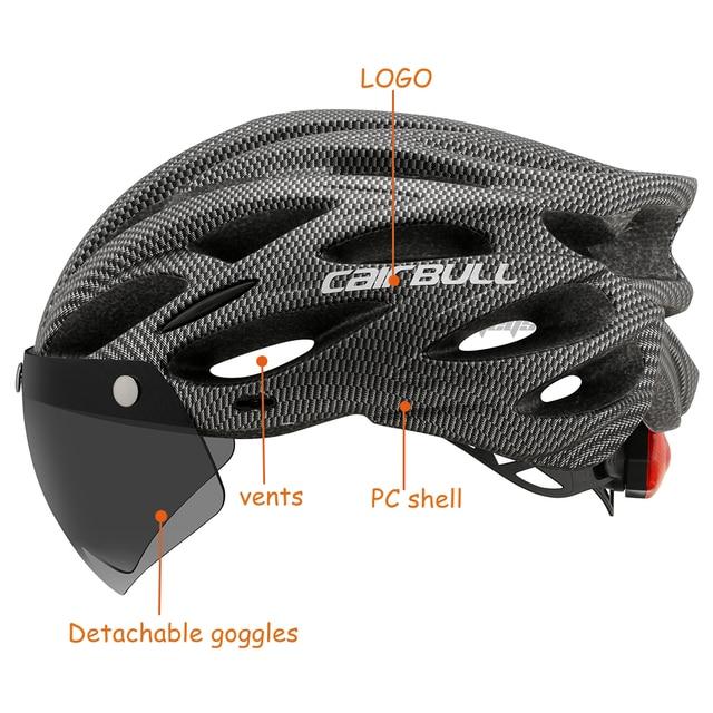 Cairbull ultraleve ciclismo capacete com removível viseira óculos de bicicleta rolos equitação capacetes da motocicleta capacete de proteção 4