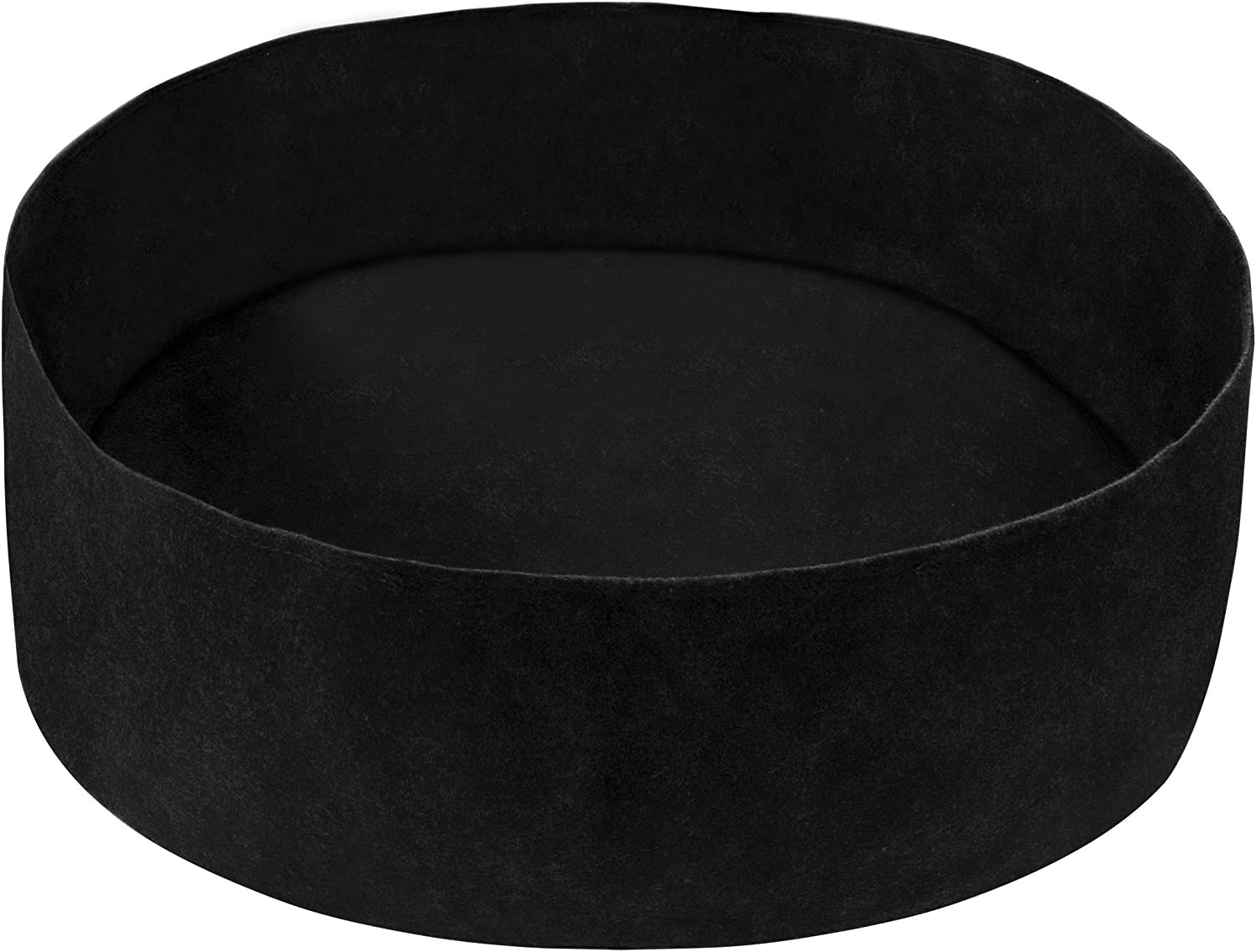 Round Garden Grow Bag Pots Bed,Planting Box Breathable Container at Outdoor Indoor for Herb Flower Vegetable.Black 15 Gallon
