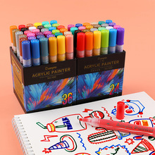 36 Colors Acrylic Permanent Paint Marker pen for Ceramic Rock Glass Porcelain Mug Wood Fabric Canvas Painting Dropshipping