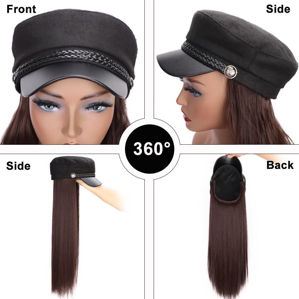 boné extensões de cabelo viagem cadete chapéu