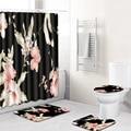 Фантазийные цветы Водонепроницаемая душевая занавеска в комплекте, коврики для туалета, коврики для ванной комнаты 180*180 см