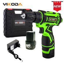 YIKODA 16.8V Electric Drill Rechargeable Lithium Battery Parafusadeira Cordless Double Speed Cordless Drill DIY Power Tools lomvum 24v cordless lithium battery electric drill adjust household variable speed rotary tool diy carving polishing drilling