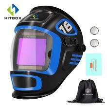 Máscara de soldagem ajustável, capacete de soldagem com escurecimento automático, grande visão, digital profissional, qualidade de soldagem