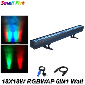 18X18W RGBWAP 6IN1 LED Wall Wash Light DMX LED Bar Light DMX Line Bar Wash Stage Lighting Effect Dj Equipments Disco Lights фото