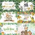 Фон для фотосъемки с изображением дикого человека мальчика джунглей сафари на заказ Детский праздник для вечеринки в честь Дня Рождения де...