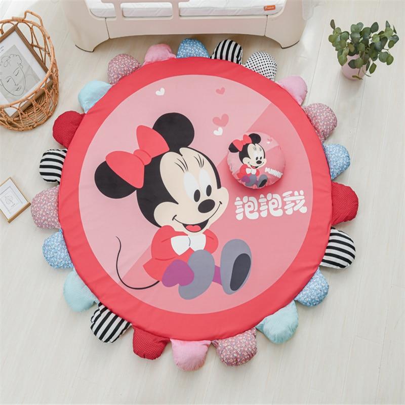 Cartoon Removable and Washable Floor Mat Minnie Mickey Playmat Game Carpet Children Climbing Mat Kids Rug  Activity Mat