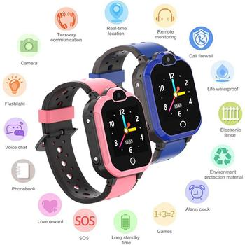 4G Smart Watch LBS Kid SmartWatch Baby Watch Waterproof For Children SOS Call Location Finder Locator Tracker Anti Lost Monitor