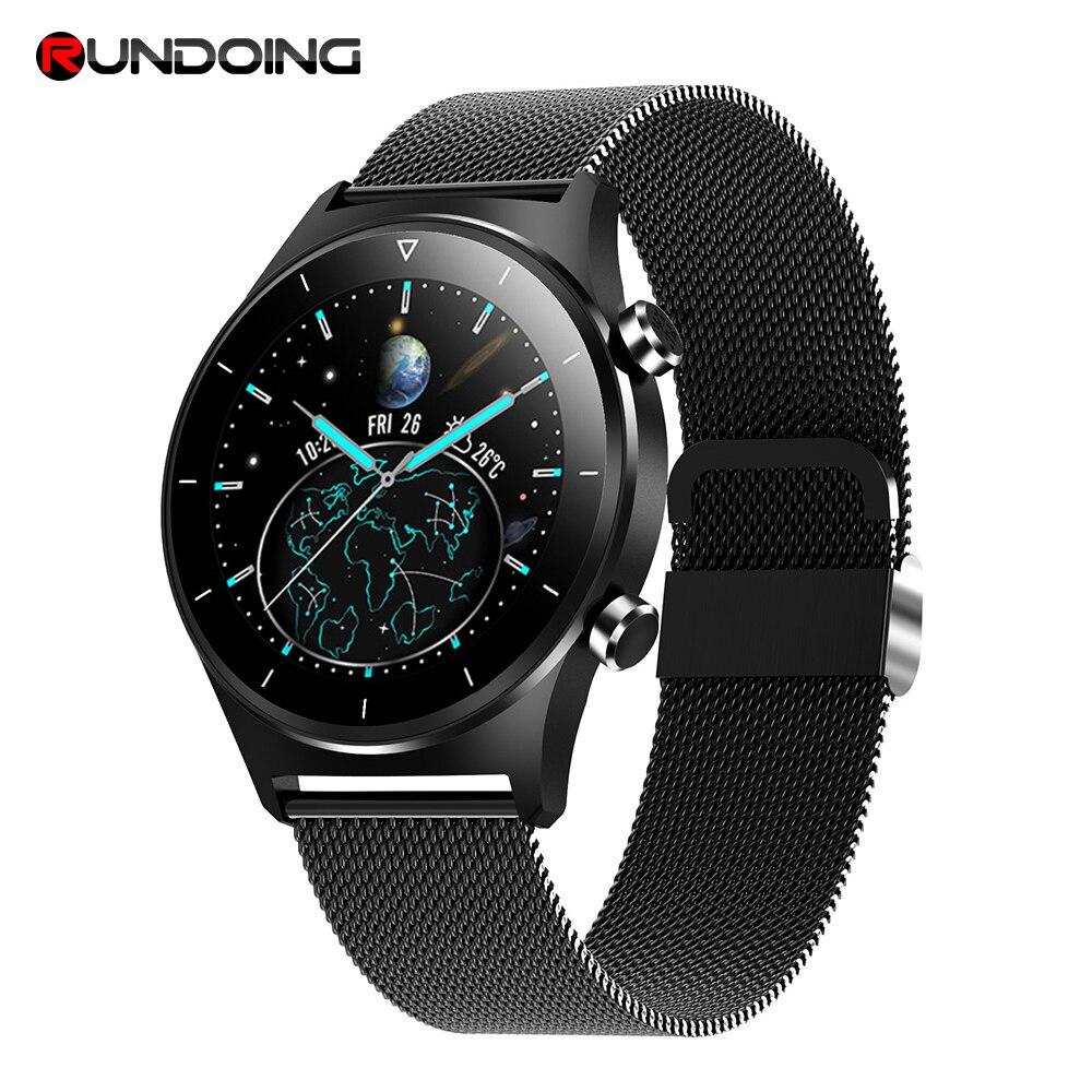2020 mais novo de fitness relógio inteligente masculino esportes smartwatch pedômetro redondo tela toque bluetooth relógio de pulso para ios e android Relógios inteligentes    -