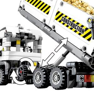 Image 4 - HUIQIBAO 799pcs טכני הנדסת Dump משאית אבני בניין רכב לבני מכונית סט חינוכי DIY צעצועים לילדים בנים
