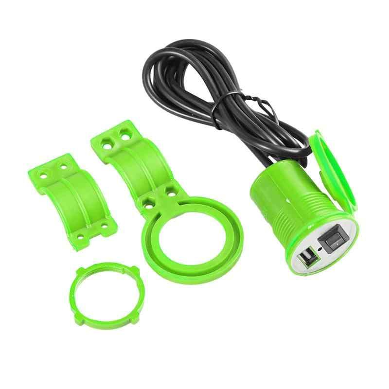 12-24V motocykl USB ładowarka samochodowa z przełącznikiem wodoodporna ładowarka do telefonu na USB uchwyt szybkie ładowanie narzędzie do skutera motocyklowego
