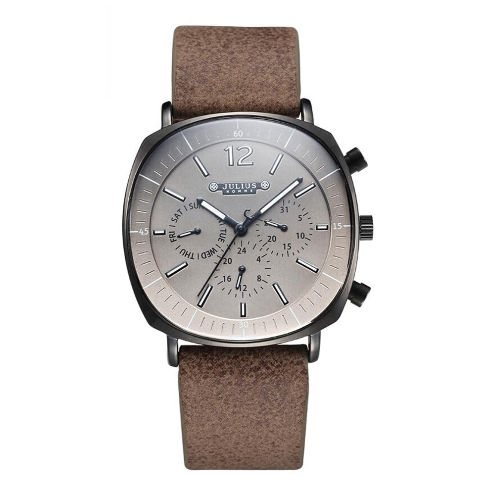 Men Genuine Leather Swiss Quartz Watch Men's Calendar Luminous Waterproof High Quality Homme Wrist Watches Gift Clock Reloj New