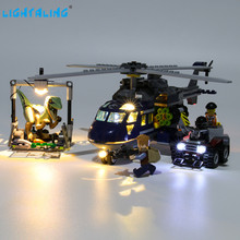 Lightaling Led Light Kit For Blue's Helicopter Pursuit Building Blocks Compatible With 75928 ( Lighting Set Only ) lightaling led light set for famous brand 10182 15002 make